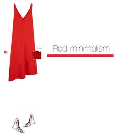 """""""Red minimalism💋"""" by krisz-kn ❤ liked on Polyvore featuring Joseph, Lulu Guinness and Talbots"""