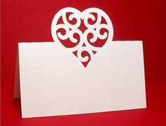 Heart place cards svg