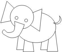 Elephant Cut Out Worksheets | Print the pages. Have the children color them and cut the piece
