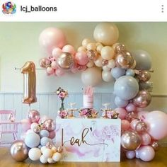 Super ideas for birthday table design party themes Birthday Party Desserts, 1st Birthday Party For Girls, Unicorn Birthday Parties, Unicorn Party, 1st Birthday Girl Decorations, Birthday Ideas, 1st Birthday Balloons, Dessert Table Birthday, Dessert Party