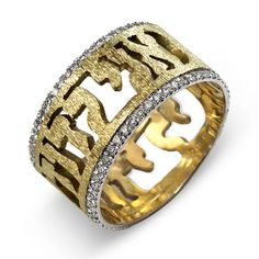 Silver and Gold Where you shall go Wedding Ring The ring is made