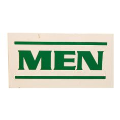 Vintage Wood Men's Room Sign from B.C. MARTiN'S - Hunters Alley $40