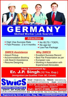 If you are looking for the best immigration consultancy services in Chandigarh, then you are at the right place. SWICS (Straight Ways Immigration Consultancy Services) Private Limited is here to serve you the best. Our highly professional and experienced team of counselors will help you to make this process easy. Call us on +91-8872198500, +918872121600 for more details. Business Visa, Resume Design, Ielts, Job Search, Congratulations, Presentation, Success, Activities, Chandigarh