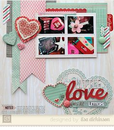 #papercraft #scrapbook #layout.   Little Love Letters[BasicGrey] - Scrapbook.com