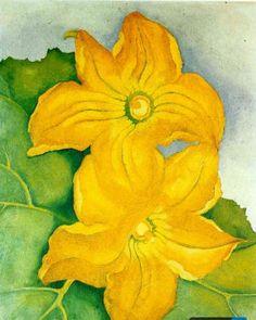 Georgia O'Keeffe, Squash Blossoms 1. WikiPaintings.
