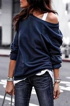 2018 New Fashion Women Blouse Casual one shoulder skew collar Long Sleeve Solid Cotton Shirt Top Tunic Blusas Mujer XL Size S Color Black Sweatshirt Femme, Mode Boho, Casual T Shirts, Casual Outfits, Work Outfits, Casual Tops, Shirt Blouses, Women's Shirts, Cheap Shirts