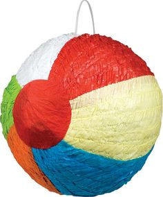 Beach Theme Birthday Party - beach ball pinata!