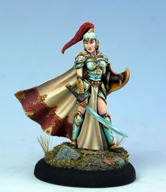 Female High Elf Warrior with Sword and Shield - Visions in Fantasy - Miniature Lines