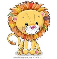 Illustration about Cute Cartoon lion isolated on a white background. Illustration of feline, baby, smile - 103014905 Cartoon Cartoon, Lion Tribal, Lama Animal, Cartoon Mignon, Baby Canvas, Lion Drawing, Cute Lion, Cute Clipart, Kids Cards