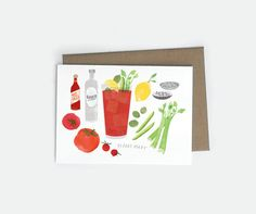 Bloody Mary A6 Card
