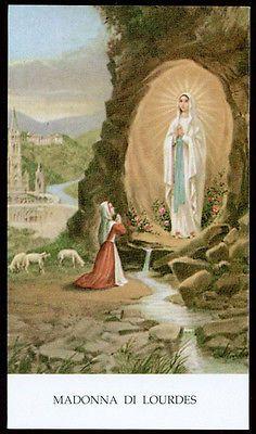 "santino-holy card""""ediz. EGIM n.119 bis MADONNA DI LOURDES"