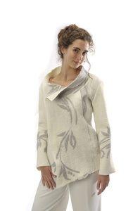Jacket #1   Description:  Felted merino wool and silk chiffon  Dimensions:  H:1.00 x W:1.00 x D:1.00 Inches