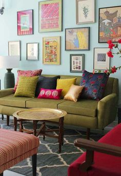 Revisited: How Shivani Dogra dresses up homes – dress your home – Interior design ideas, Indian decor, handloom & handicraft, DIY Paint Colors For Living Room, Living Room Grey, Apartment Interior Design, Living Room Interior, Indian Interior Design, Deco Boheme Chic, Indian Interiors, Indian Living Rooms, Living Room Decor India