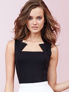 We love an interesting neckline, this unique shape would make for a fabulous fashion style shot.