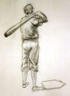 baseball art | Baseball Sketch: