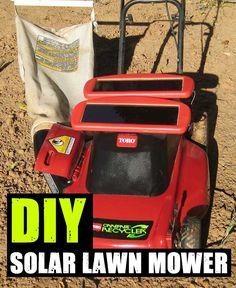 DIY Solar Lawn Mower,solar,power,frugal,gardening,shtf,teotwawki,hack,life hack,