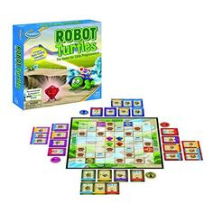 Robot Turtles and over other quality toys at Fat Brain Toys. Labeled as the most backed board game in KickStarter history, Robot Turtles is a revolutionary learning tool designed to teach preschoolers the fundamentals of computer programing. Preschool Board Games, Board Games For Kids, Preschool Toys, Little Big Planet, Teaching Kids To Code, Turtle Games, Teaching Programs, Coding For Kids, Family Game Night