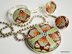 Free tutorial - Polymer clay pendant with resin dome (translated).