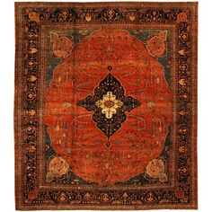 Antique Farahan Rug | From a unique collection of antique and modern persian rugs at https://www.1stdibs.com/furniture/rugs-carpets/persian-rugs/