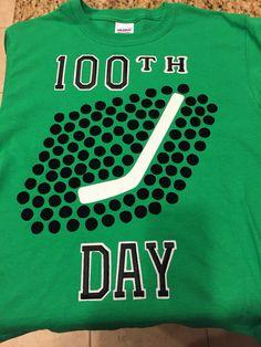 100th day of school hockey shirt