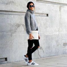 Un look completado con unas Adidas.... ¡¡perfecto!! #look #Adidas #invierno #zapatillas #casual #moda
