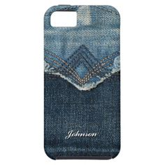Cool Blue Jean Style with Custom Name | iPhone 5 Case
