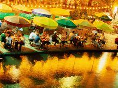 Dining at Night on the San Antonio Riverwalk