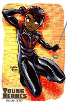 Chibi Marvel, Marvel Art, Black Cartoon Characters, Cartoon Art, Cute Deadpool, V Force, Character Art, Character Design, Black Comics