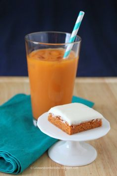 Love and Confections: Thai Tea Blondies with Sweetened Condensed Milk Frosting #FWCon