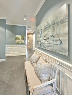 Wall paint color is Benjamin Moore Sea Pine. Stunning mid tone ...