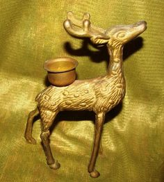 Deer Doe Brass Figure Santa's Reindeer Holiday by TheIDconnection, $15.00