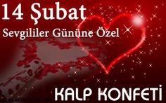 14 Şubat Sevgililer Gününe Özel Kalp Konfeti