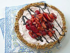Strawberry Ice Cream Pie with Pretzel Crust