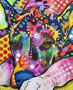 Dean Russo Art — Lying Dane PRINT