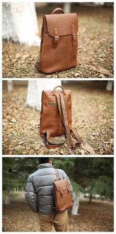 Handmade Vintage Leather Backpack, Rucksack, School Backpack, Travel Backpack 5105