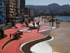amazing boardwalk/beachfront walkway .... Benidorm Seafront   Location: Benidorm, Spain   Architects: Carlos Ferrater – Xavier Martí Galí.  OAB   Pictures: Alejo Bagué