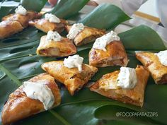 Traditional Empanadas with chipotle cream is a great tray passed option for any gathering. Palm Springs Events, Delicious Catering, Rancho Mirage, Palm Desert, Wedding Catering, Empanadas, Chipotle, Pretzel Bites, Gourmet Recipes