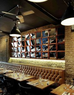 Master and Servant Restaurant. Shoreditch. London. Mirrors at different angles is an interesting feature