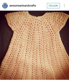 Instagram @awsomeartsandcrafts ~ crochet baby girl dress ~ pic only