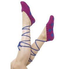 Ballet Slippers FREE Knitting Pattern by Caron