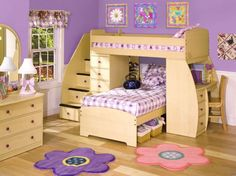 Bunk Bed Bedroom Design Ideas for Girls Home Interior Design: Berg Furniture Sierra Twin Over Twin Loft Bed With Desk Foto Image 01