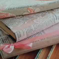 Cover books with newspaper & trim