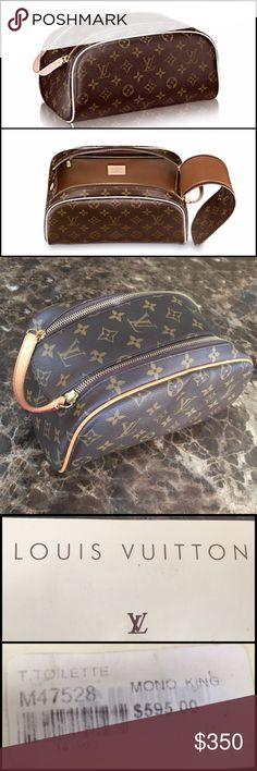 Louis Vuitton King Size Toiletry Bag Authentic Louis Vuitton KING SIZE TOILETRY BAG - The generous King size toiletry bag comes in Monogram canvas and features a wide, double zip opening for easy access. It easily holds all toiletry essentials. Gently Used, in excellent condition. Louis Vuitton Bags Travel Bags