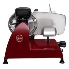 The Berkel Red Line 220 Electric Slicer is the professional meat slicer for your kitchen. This kitchen appliance slices cold cuts, fish, vegetables and cheese. Elegantly designed, it featues a built-in sharpener that enhances blade efficiency. Small Kitchen Appliances, Kitchen Aid Mixer, Meat Slicers, Cold Cuts, Electric Foods, Best Meat, Specialty Appliances, Line, Red
