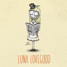 luna lovegood - Victor Medina Illustration