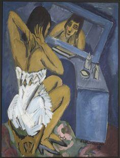 Ernst Ludwig Kirchner (1880 - 1938)  Toilette - Frau vor dem Spiegel (La toilette - Femme au miroir) [1913 / 1920] Centre Pompidou