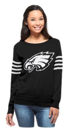 Women's Klew Green Philadelphia Eagles Big Logo Ugly Sweater Dress ...