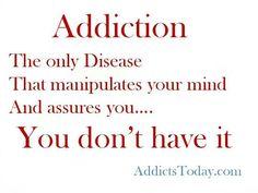 I hate the disease....