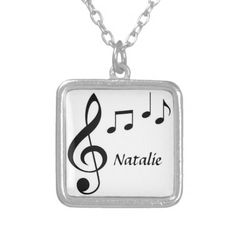 Personalized Silver Plated Necklace can be with a name or not. Makes a great gift!