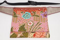 Pink flower bag hip bag waist bag belt bag fanny